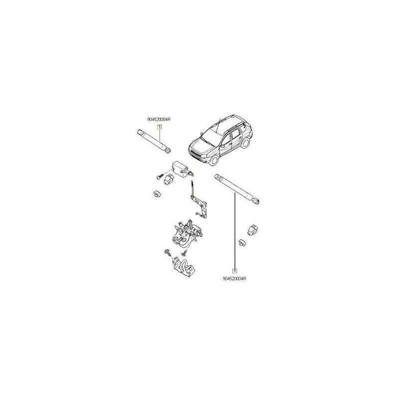 Amortizor hayon duster for Porte zen fiber